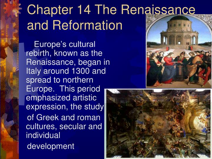 chapter 14 the renaissance and reformation n.