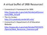 a virtual buffet of srbi resources