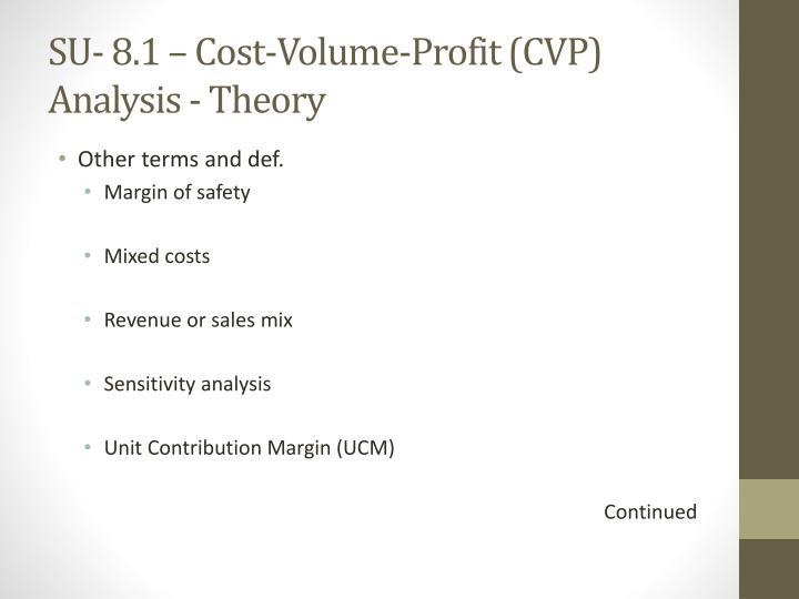 Su 8 1 cost volume profit cvp analysis theory1