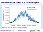 reconstruction of the euv for solar cycle 23