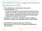 un cefact core component technical specification ccts