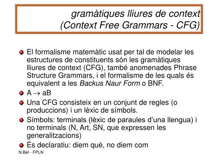 gramàtiques lliures de context
