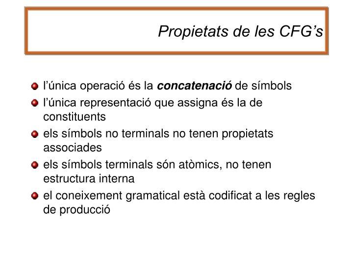 Propietats de les CFG's