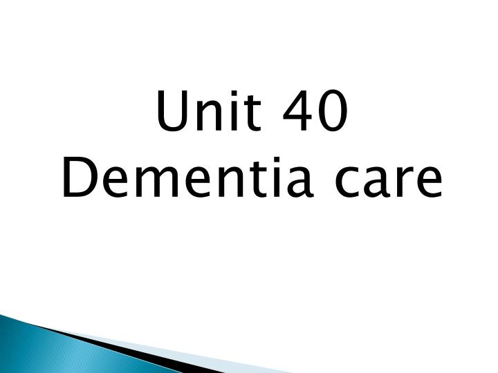 dementia unit Struggling with dementia care choices available outside the home, caregivers may consider placing a loved one with dementia in a special care unit within an assisted living community or in a long-term care setting.