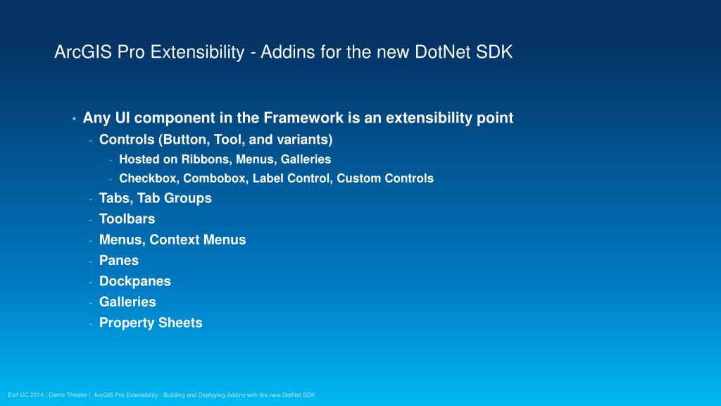 PPT - ArcGIS Pro Extensibility - Building and Deploying Addins with