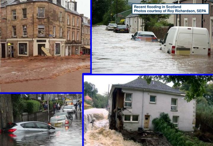 Recent flooding in Scotland