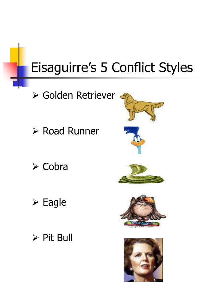 eisaguirre s 5 conflict styles n.