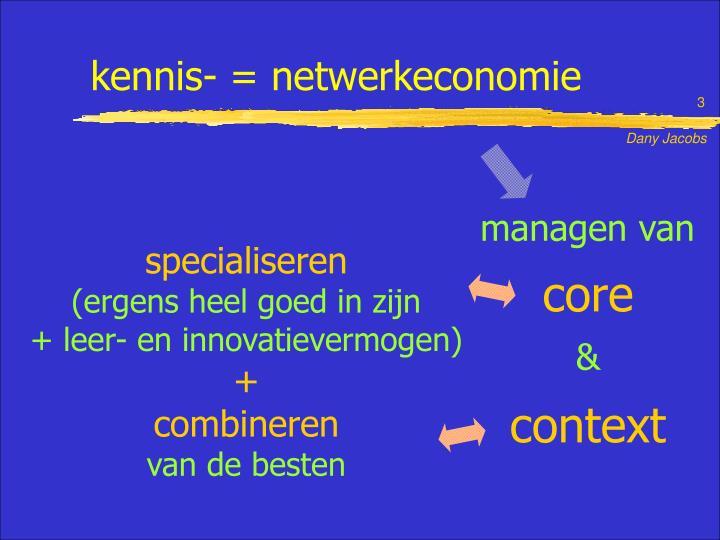 Kennis- = netwerkeconomie