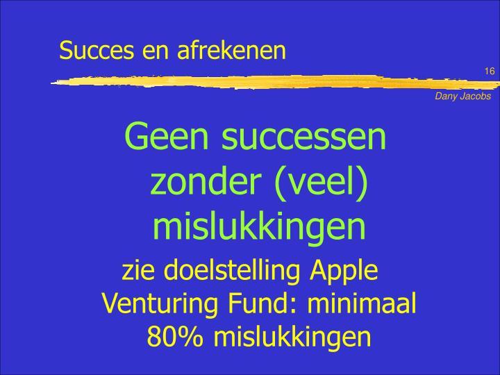 Succes en afrekenen