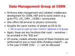data management group at cern