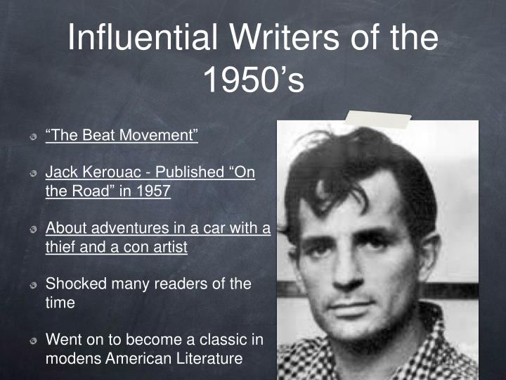 Influential Writers of the 1950's