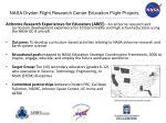 nasa dryden flight research center education flight projects