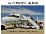 sarp s strength students