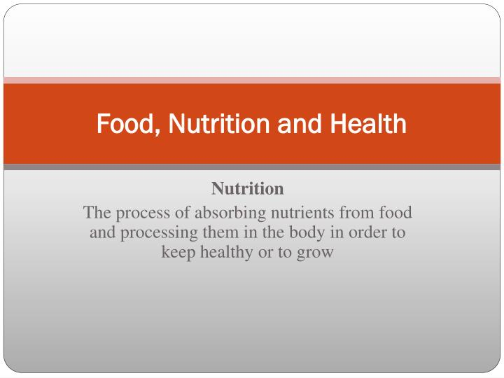 food nutrition and health n.