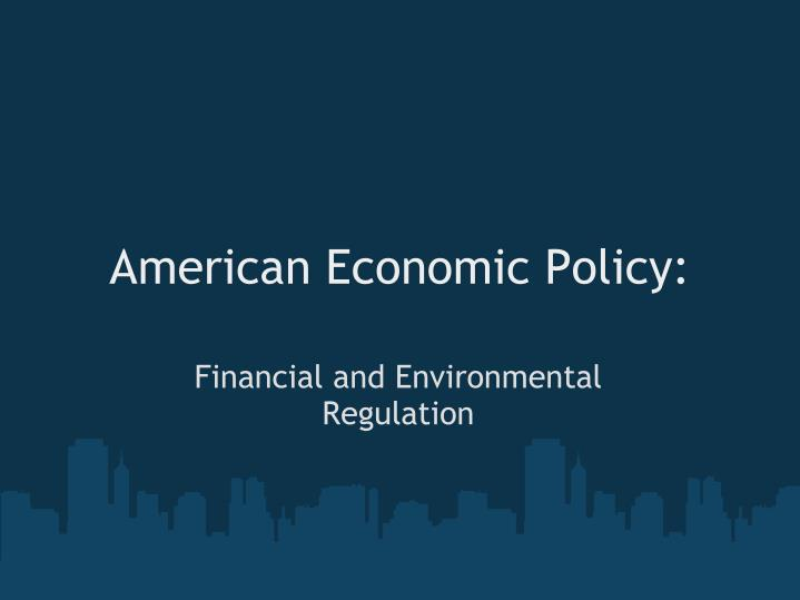 american economic policy n.