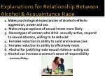 explanations for relationship between alcohol acquaintance rape