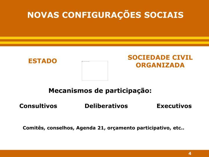 NOVAS CONFIGURAÇÕES SOCIAIS