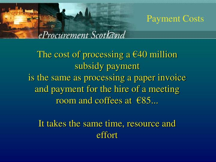 Payment Costs