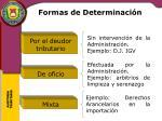 formas de determinaci n