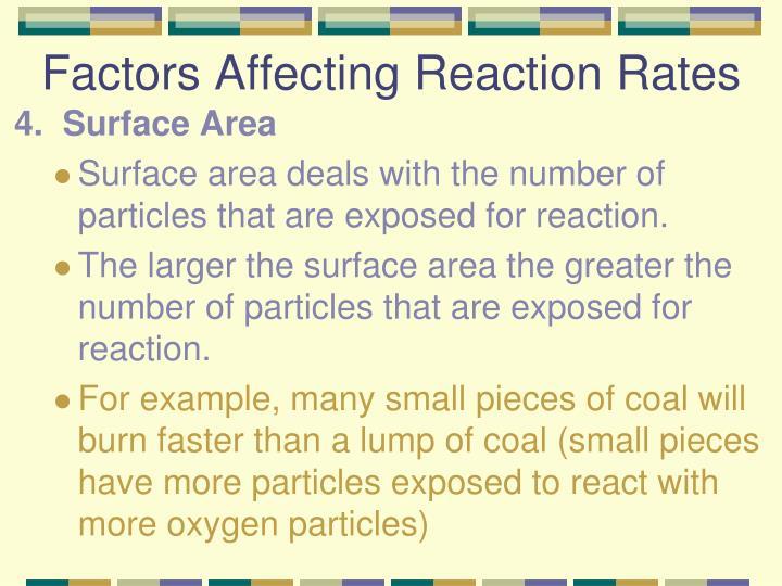 Factors Affecting Reaction Rates