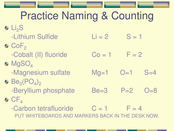 Practice Naming & Counting
