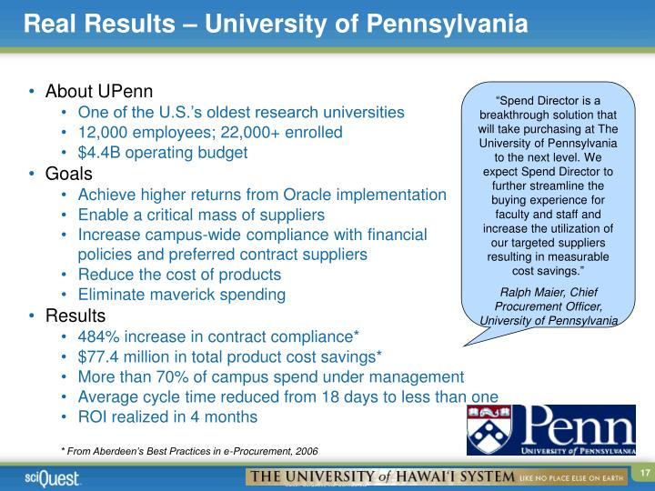 Real Results – University of Pennsylvania