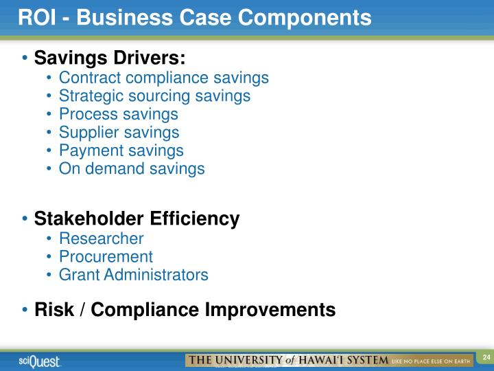 ROI - Business Case Components