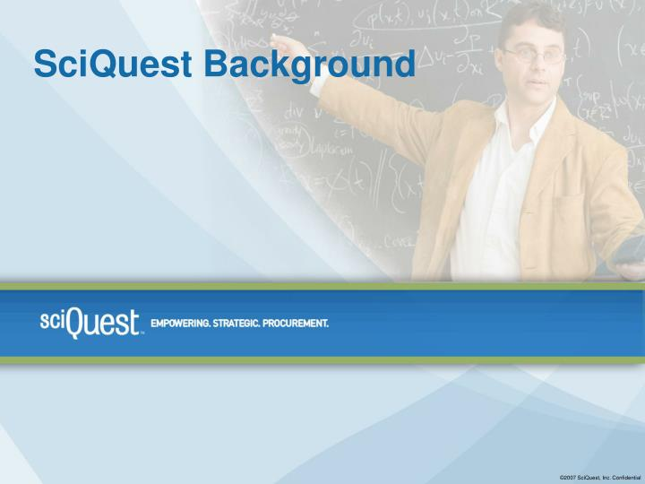 SciQuest Background