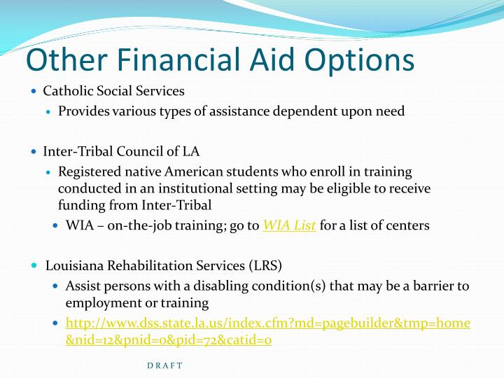 Stock options financial aid
