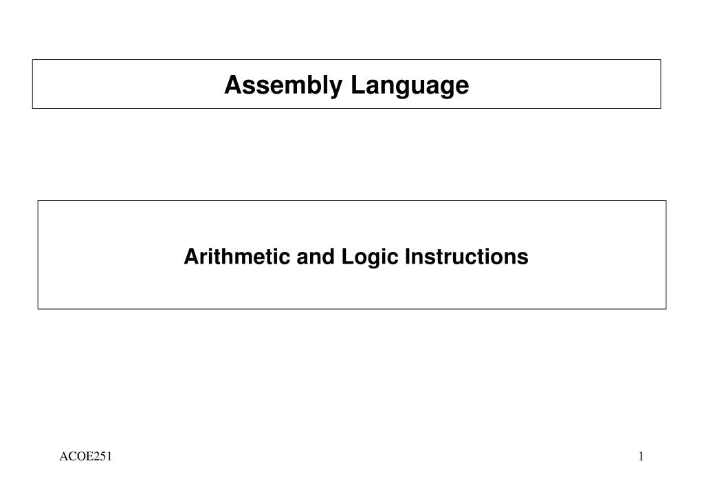 PPT - Assembly Language PowerPoint Presentation - ID:3722314