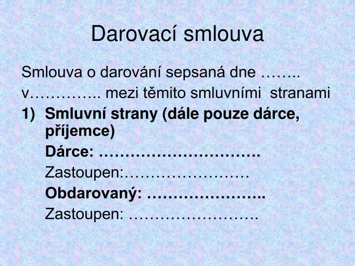 Darovac smlouva1