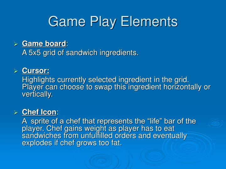Game Play Elements