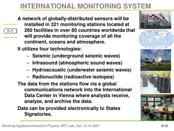 INTERNATIONAL MONITORING SYSTEM