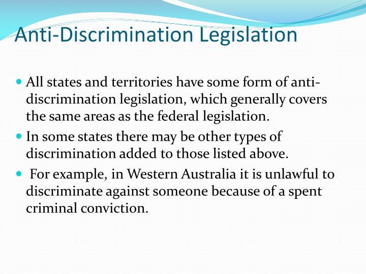 Anti-Discrimination Legislation
