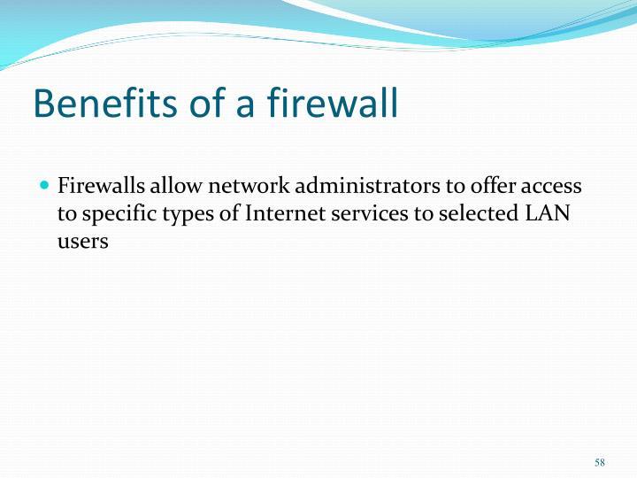 Benefits of a firewall