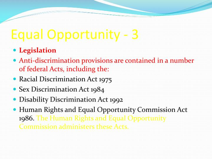 Equal Opportunity - 3