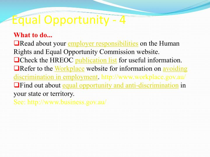 Equal Opportunity - 4