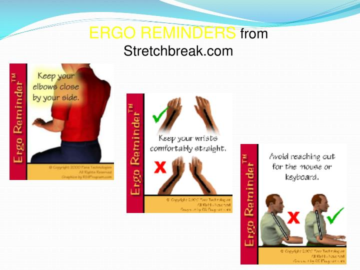 ERGO REMINDERS