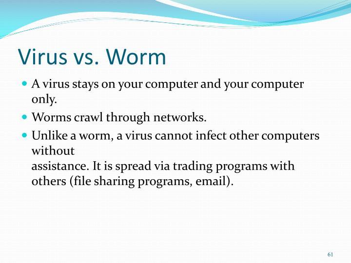 Virus vs. Worm