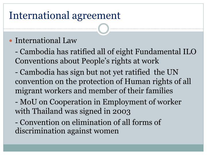 International agreement