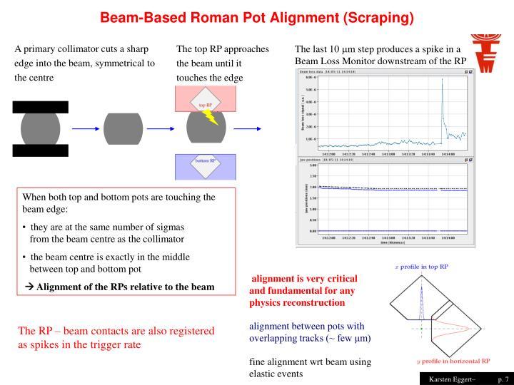 Beam-Based Roman Pot Alignment (Scraping)