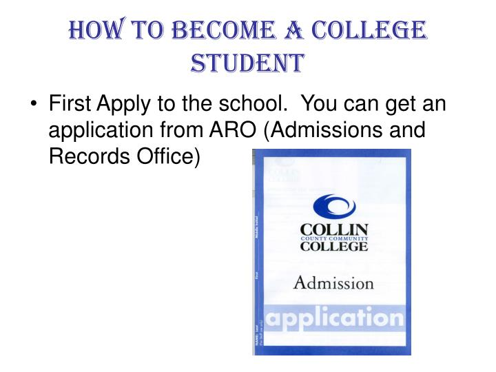 how to become a college student n.