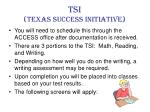 tsi texas success initiative