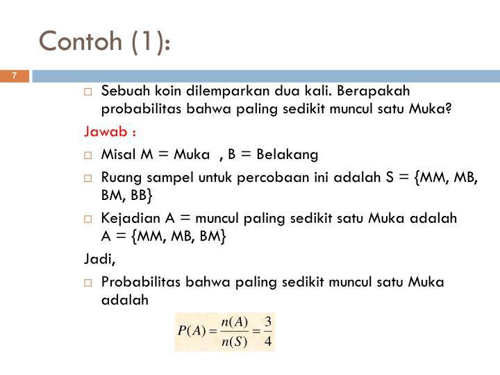 Contoh (1):