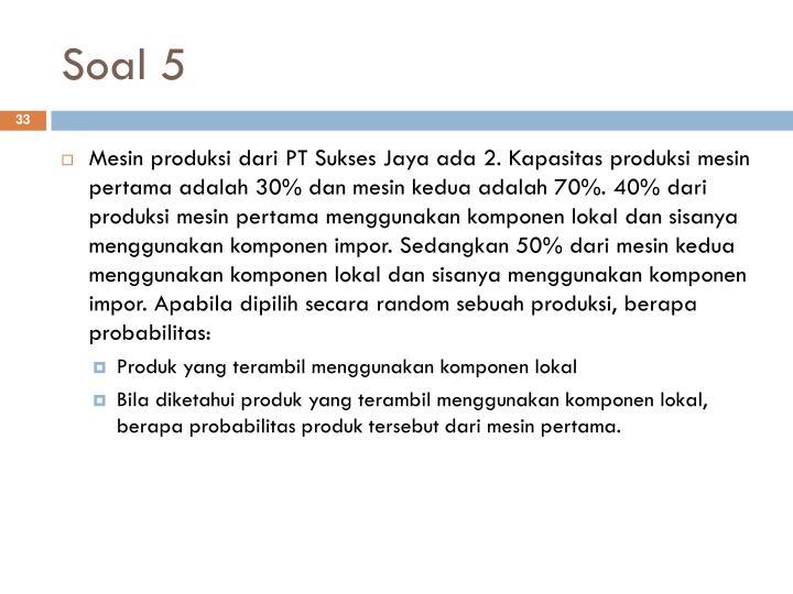 Soal 5