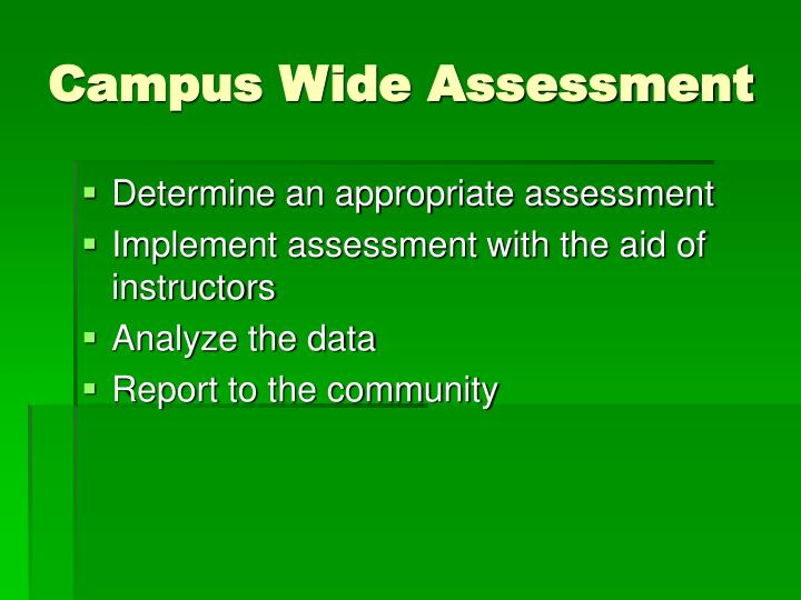 Campus Wide Assessment