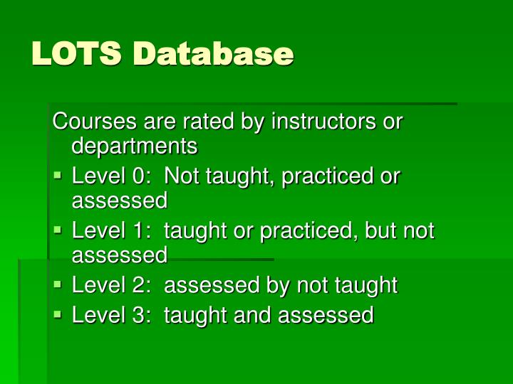 LOTS Database
