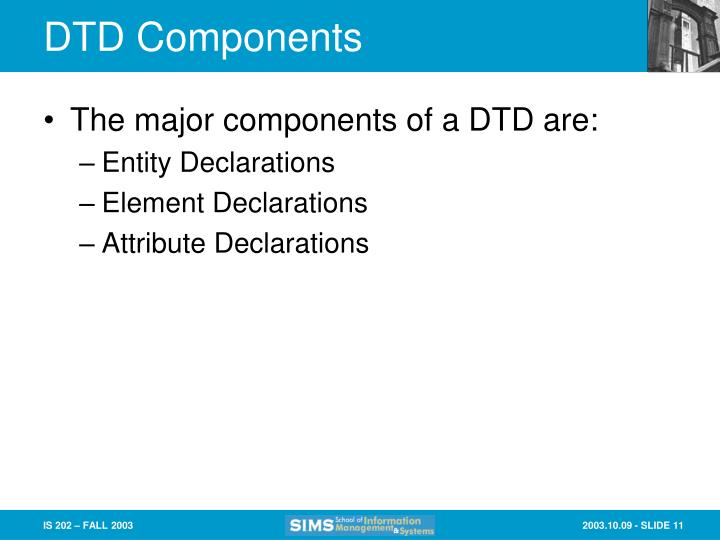 DTD Components