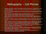 bibliography cell phones