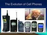 the evolution of cell phones